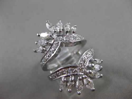 ANTIQUE 3.26CT OLD MINE DIAMOND 14KT WHITE GOLD ENGAGEMENT RING & INSERT #20967