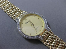 ESTATE LARGE .70CT DIAMOND 14KT WHITE & YELLOW GOLD ROUND GENEVE WATCH #10771