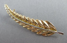 ANTIQUE 14KT YELLOW GOLD FILIGREE FLORAL LEAF BROOCH SIMPLY AMAZING!! #22533