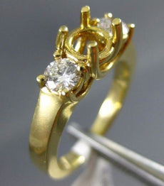 ESTATE .50CT DIAMOND 14KT YELLOW GOLD LUCIDIA SEMI MOUNT ENGAGEMENT RING #14966
