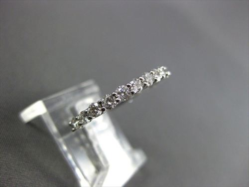 ANTIQUE .51CT ROUND DIAMOND 14K WHITE GOLD ETERNITY RING 2mm BEAUTIFUL! #21704