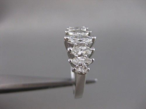ESTATE 1.10CTW MARQUISE DIAMOND 14K WHITE GOLD ANNIVERSARY RING F/G VVS #20042
