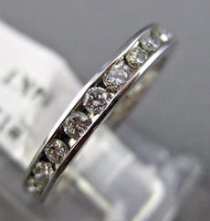 ESTATE .70CT DIAMOND 14KT WHITE GOLD 3D ETERNITY WEDDING ANNIVERSARY RING #1214
