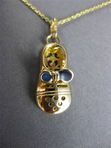 ANTIQUE 14KT YELLOW GOLD HANDCRAFTED FILIGREE ITALIAN BABY SHOE PENDANT #23498