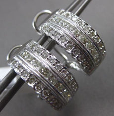 WIDE 1.85CT ROUND & PRINCESS DIAMOND 18K WHITE GOLD 3D UMBRELLA CLIP ON EARRINGS