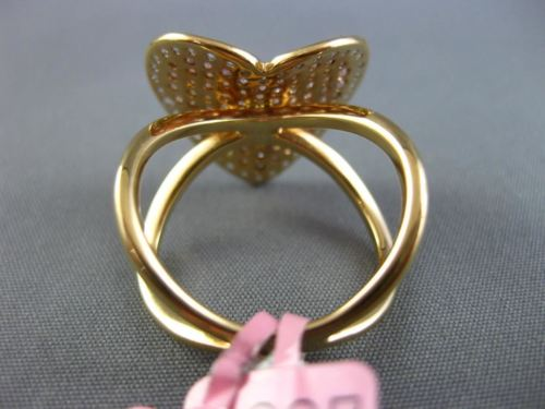 LARGE .92CT WHITE & PINK DIAMOND 18KT WHITE & ROSE GOLD 3D HEART INFINITY RING