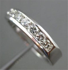 ESTATE .46CT DIAMOND 14KT WHITE GOLD 7 STONE CHANNEL SET ANNIVERSARY RING #14597