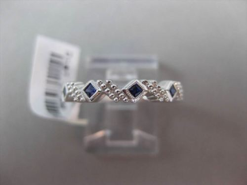 ANTIQUE .22CT AAA SAPPHIRE 14KT WHITE GOLD 5 STONE FILIGREE RING AMAZING!!!!!!!!