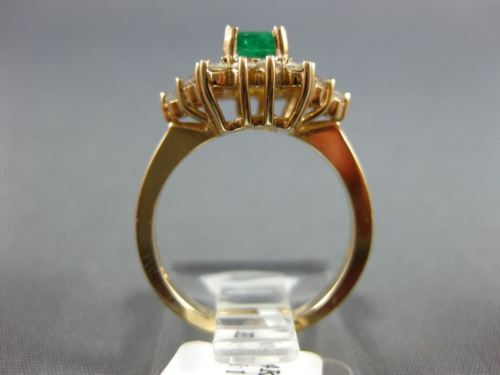 WIDE 1.60CT DIAMOND & AAA COLOMBIAN EMERALD 14KT YELLOW GOLD 3D ENGAGEMENT RING