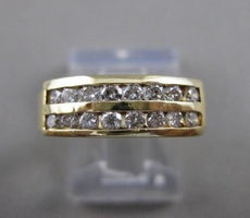ESTATE .65CTW DOUBLE ROW DIAMOND 14K YELLOW GOLD WEDDING ANNIVERSARY RING #21317