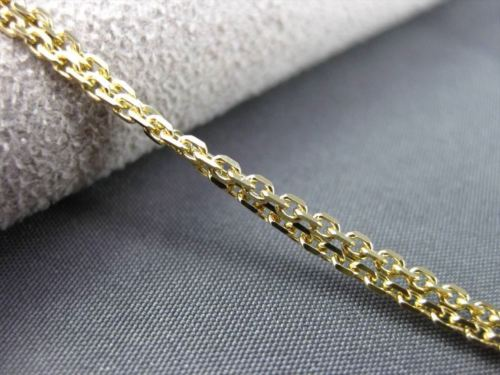 ANTIQUE LONG .90CT DIAMOND & AGATE 14KT YELLOW GOLD 3D FLOATING ITALIAN NECKLACE