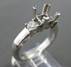 ESTATE .50CT DIAMOND 14KT WHITE GOLD SQUARE SEMI MOUNT ENGAGEMENT RING #1275