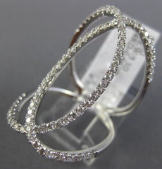 ESTATE LARGE .66CT DIAMOND 18K WHITE GOLD 3D LOVE KNOT CRISS CROSS COCKTAIL RING