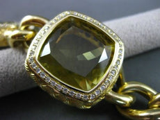 ESTATE WIDE & LONG 46.0CT DIAMOND & AAA YELLOW TOPAZ 14KT YELLOW GOLD BRACELET