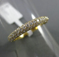 ESTATE .91CT DIAMOND 18KT YELLOW GOLD CLASSIC ETERNITY WEDDING ANNIVERSARY RING
