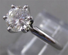 ESTATE 1 CARAT ROUND DIAMOND PLATINUM SOLITAIRE ENGAGEMENT RING H SI2 6MM #17177