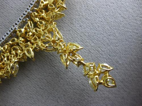 ESTATE LARGE 38.33CT WHITE & FANCY YELLOW DIAMOND 18KT 2 TONE GOLD LEAF NECKLACE
