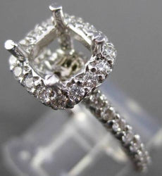 ESTATE .60CT DIAMOND 14KT WHITE GOLD 3D SQUARE SEMI MOUNT ENGAGEMENT RING #22027