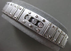 ESTATE WIDE & LONG 1.35CT DIAMOND 14KT WHITE GOLD ETOILE ITALIAN BRACELET #24877