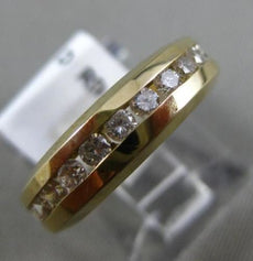 ESTATE 1.25CT DIAMOND 14KT YELLOW GOLD CHANNEL ETERNITY WEDDING ANNIVERSARY RING