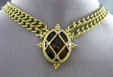ANTIQUE 12.04CT DIAMOND & SMOKEY TOPAZ 14KT YELLOW GOLD ETOILE FILIGREE NECKLACE