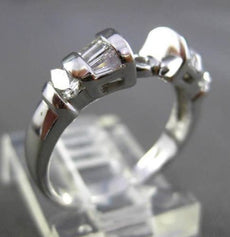 ESTATE WIDE .70 DIAMOND 14KT WHITE GOLD SEMI MOUNT ENGAGEMENT RING 5mm #9451