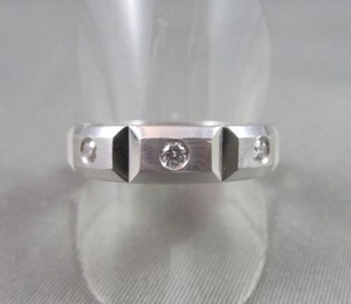 WIDE 6mm HAND CRAFTED .48CT F VVS DIAMOND 14KT WHITE GOLD MENS WEDDING BAND !!!!