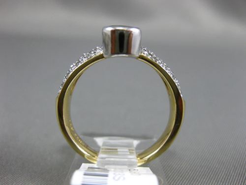1.84CT DIAMOND & AAA OVAL SAPPHIRE 14K YELLOW GOLD 3D SEMI BEZEL ENGAGEMENT RING