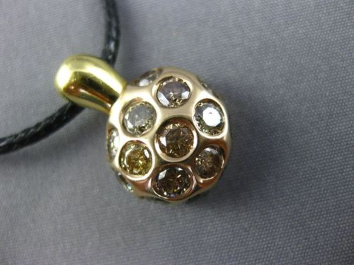 2.06CT CHOCOLATE FANCY DIAMOND 18KT YELLOW & ROSE GOLD 3D NUGGET ETOILE PENDANT