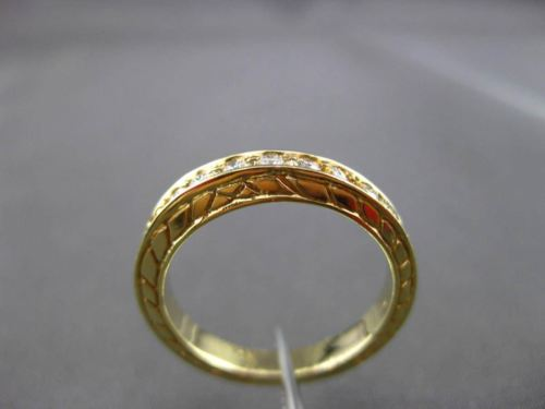 ANTIQUE .27CT DIAMOND 14KT YELLOW GOLD 3D FILIGREE WEDDING ANNIVERSARY RING 2773