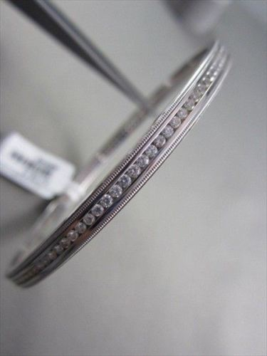ANTIQUE MILGRAIN 2.0CT DIAMOND 14KT WHITE GOLD 5MM WIDE BANGLE ONE OF A KIND!!!!