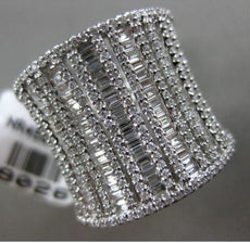 ESTATE EXTRA LARGE 2.13CT DIAMOND 14KT WHITE GOLD HANDCRAFTED ANNIVERSARY RING