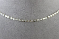 ESTATE 14K WHITE & YELLOW GOLD DIAMOND CUT FLAT FIGARUCCI NECKLACE CHAIN #24755