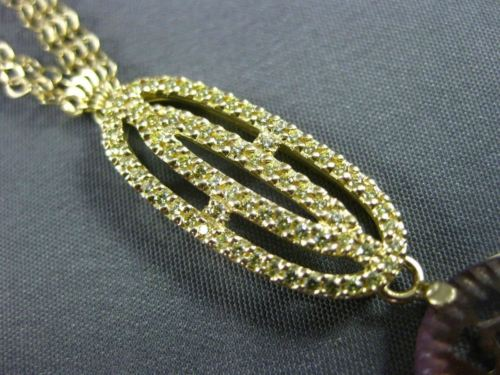 ESTATE LARGE .45CT DIAMOND & MULTI GEM 18KT YELLOW GOLD FILIGREE LARIAT NECKLACE