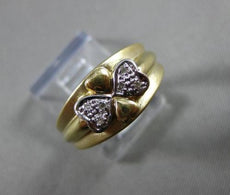 ANTIQUE WIDE DIAMOND 14KT WHITE & YELLOW GOLD INFINITY HEART BOW LOVE RING 21069