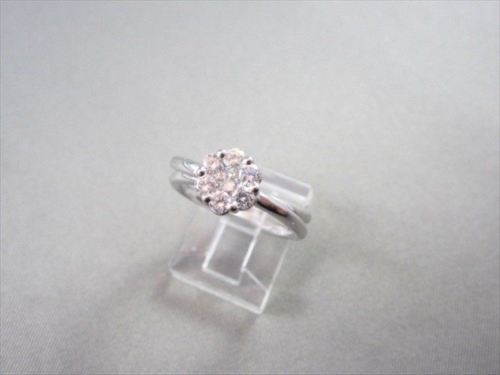 ANTIQUE WIDE E-F VVS FLOWER .62CT DIAMOND 14KT GOLD RING ONE OF A KIND!!!!!!!!!!