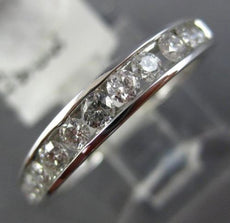 ESTATE .50CT DIAMOND 14KT WHITE GOLD 11 STONE CHANNEL WEDDING ANNIVERSARY RING
