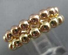 ESTATE 14KT YELLOW & ROSE GOLD HANDCRAFTED DOUBLE ETERNITY BEADED STACKABLE RING