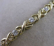 "ANTIQUE .70CTW DIAMOND 14KT YELLOW GOLD X & O BRACELET 7"" INCH F/G VVS/VS #19375"