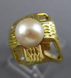ESTATE LARGE AAA SOUTH SEA PEARL 18K YELLOW GOLD HANDCRAFTED FILIGREE RING 26053