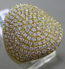 ESTATE LARGE 1.94CT DIAMOND 18KT YELLOW GOLD MICRO PAVE CIRCULAR COCKTAIL RING