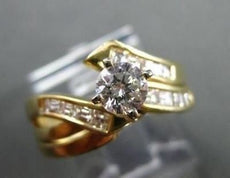 ESTATE .97CT DIAMOND 14K YELLOW GOLD WEDDING & ENGAGEMENT RING STUNNING!! #246