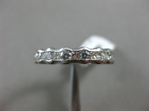 1.53CT ROUND & PRINCESS DIAMOND 14KT WHITE GOLD BEZEL ETERNITY ANNIVERSARY #1191