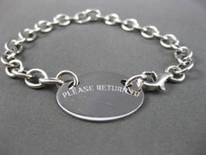 ESTATE 14KT WHITE GOLD OVAL ENGRAVING PLATE ITALIAN CHARM BRACELET #23286