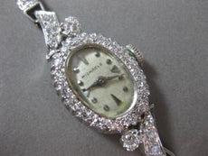 ANTIQUE 1.76CT OLD MINE DIAMOND 14K WHITE GOLD OVAL MICHAELS WATCH PRETTY #20475
