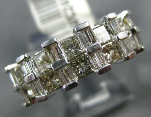 1.50CT PRINCESS & BAGUETTE DIAMOND 14K WHITE GOLD SEMI ETERNITY ANNIVERSARY RING
