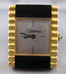 ANTIQUE SWISS CATENA 18K YELLOW GOLD ELECTRO LADY RECTANGLE WATCH WORKING #20999