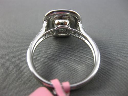 LARGE GIA 2.64CT FANCY COLOR DIAMOND 18KT WHITE & ROSE GOLD HALO ENGAGEMENT RING