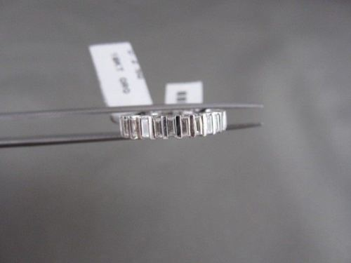 ANTIQUE 5MM ETERNITY BAGUETTE DIAMOND 18KT WHITE GOLD RING SIMPLY THE VERY BEST!