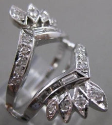ESTATE .60CTW DIAMOND 14KT WHITE GOLD ENGAGEMENT RING INSERT 26.5MM WIDE #21168